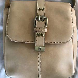 Etienne Aigner Tan Leather Crossbody Bag